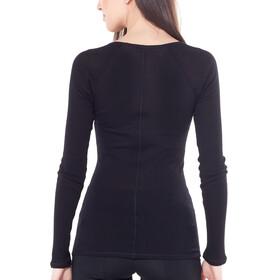 Icebreaker Luxe Rib LS V Shirt Women black